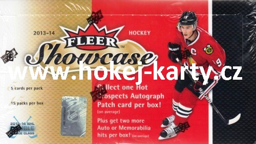 2014-15 UD Fleer Showcase Hockey Hobby Balíček