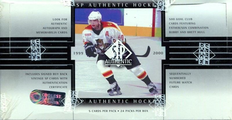 1999-00 UD SP Authentic Hockey HOBBY Balíček