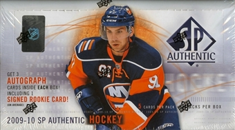 2009-10 UD SP Authentic Hockey Hobby Balíček