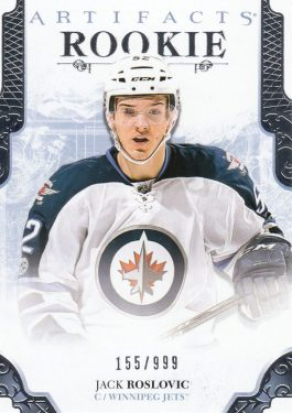 insert RC karta JACK ROSLOVIC 17-18 Artifacts Rookie /999