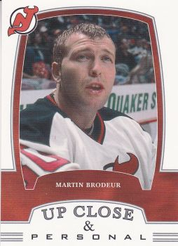 insert karta MARTIN BRODEUR 02-03 BAP First Edition Up Close and Personal