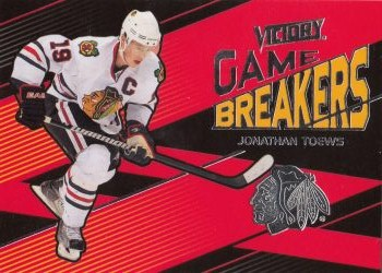 insert karta JONATHAN TOEWS 10-11 Victory Game Breakers číslo GB-TO