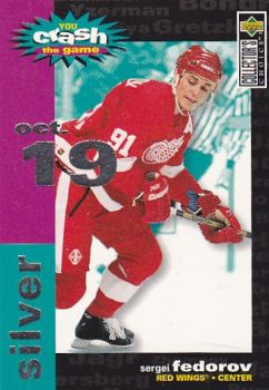 insert karta SERGEI FEDOROV 95-96 Coll. Choice You crash the Game Silver