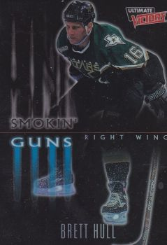 insert karta BRETT HULL 99-00 Ultimate Victory Smokin´Guns číslo sq-11