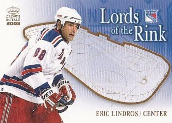 insert karta ERIC LINDROS 02-03 Crown Royale Lords of the Rink číslo 15