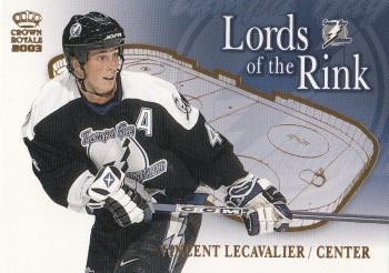 insert karta VINCENT LECAVALIER 02-03 Crown Royale Lords of the Rink číslo 18
