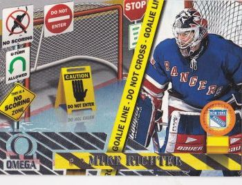 insert karta MIKE RICHTER 97-98 Omega No Scoring Zone číslo 8