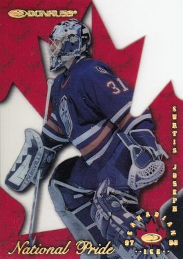 insert karta CURTIS JOSEPH 97-98 Donruss Canadian Ice National Pride /1997