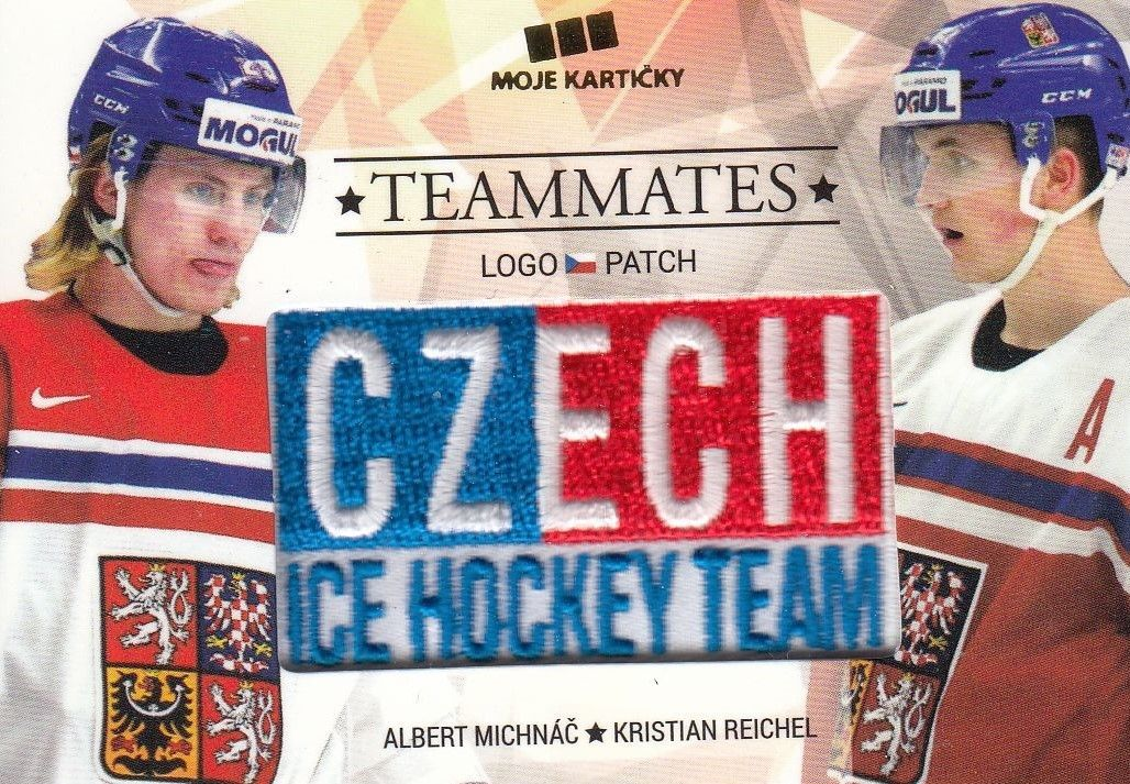 patch karta MICHNÁČ/REICHEL 17-18 Czech Ice Hockey Team Teammates /50