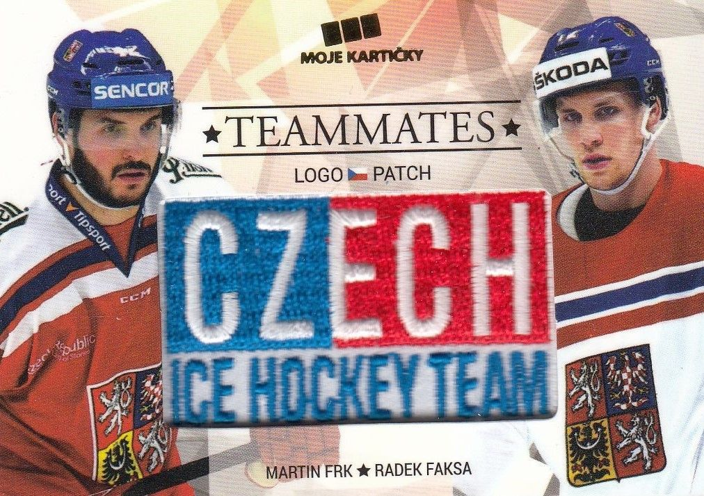 patch karta FRK/FAKSA 17-18 Czech Ice Hockey Team Teammates /50