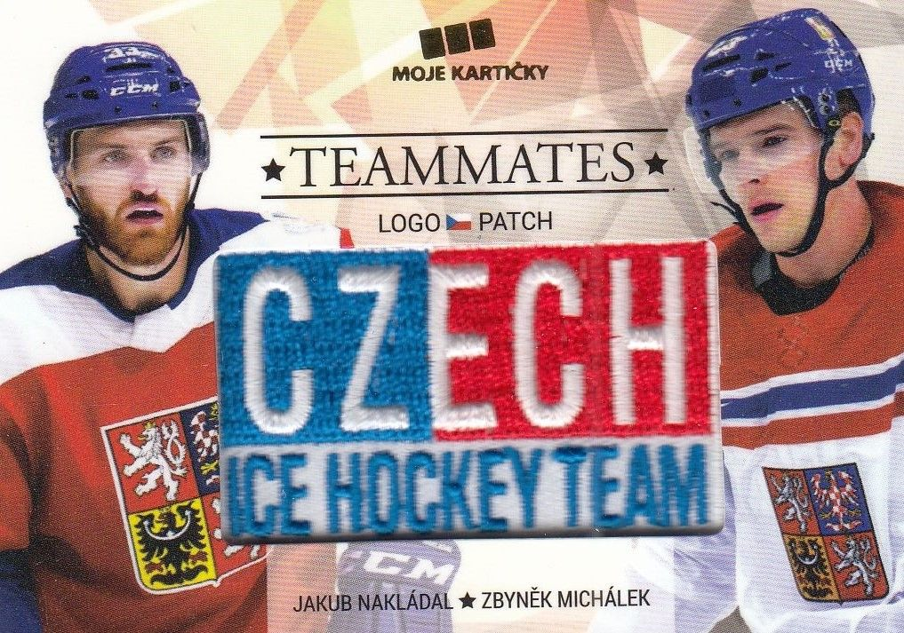 patch karta NAKLÁDAL/MICHÁLEK 17-18 Czech Ice Hockey Team Teammates /50