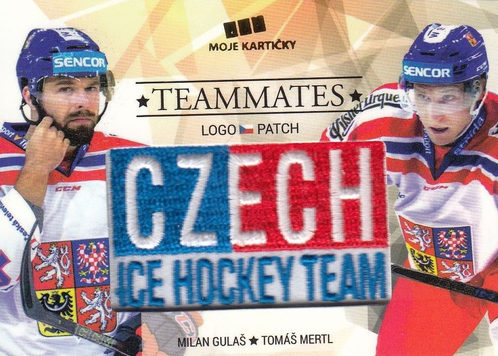 patch karta GULAŠ/MERTL 17-18 Czech Ice Hockey Team Teammates /50