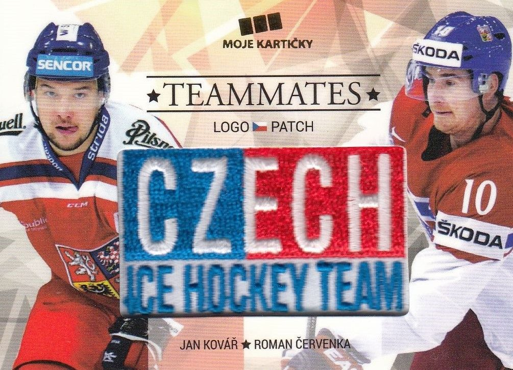 patch karta KOVÁŘ/ČERVENKA 17-18 Czech Ice Hockey Team Teammates /50