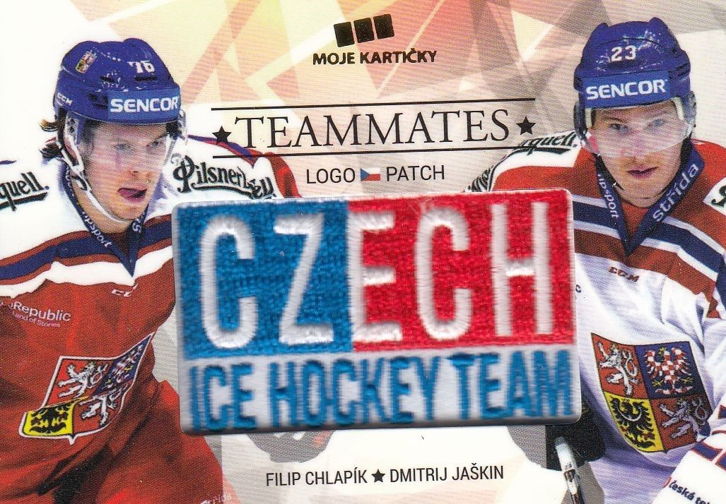 patch karta CHLAPÍK/JAŠKIN 17-18 Czech Ice Hockey Team Teammates /50