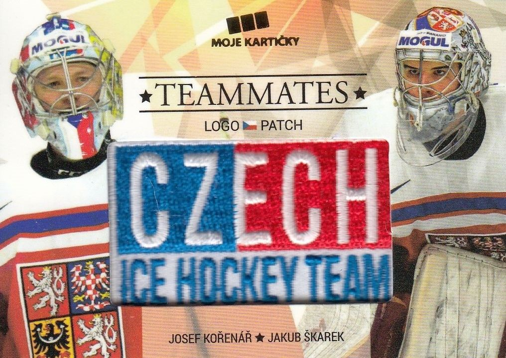 patch karta KOŘENÁŘ/ŠKAREK 17-18 Czech Ice Hockey Team Teammates /50