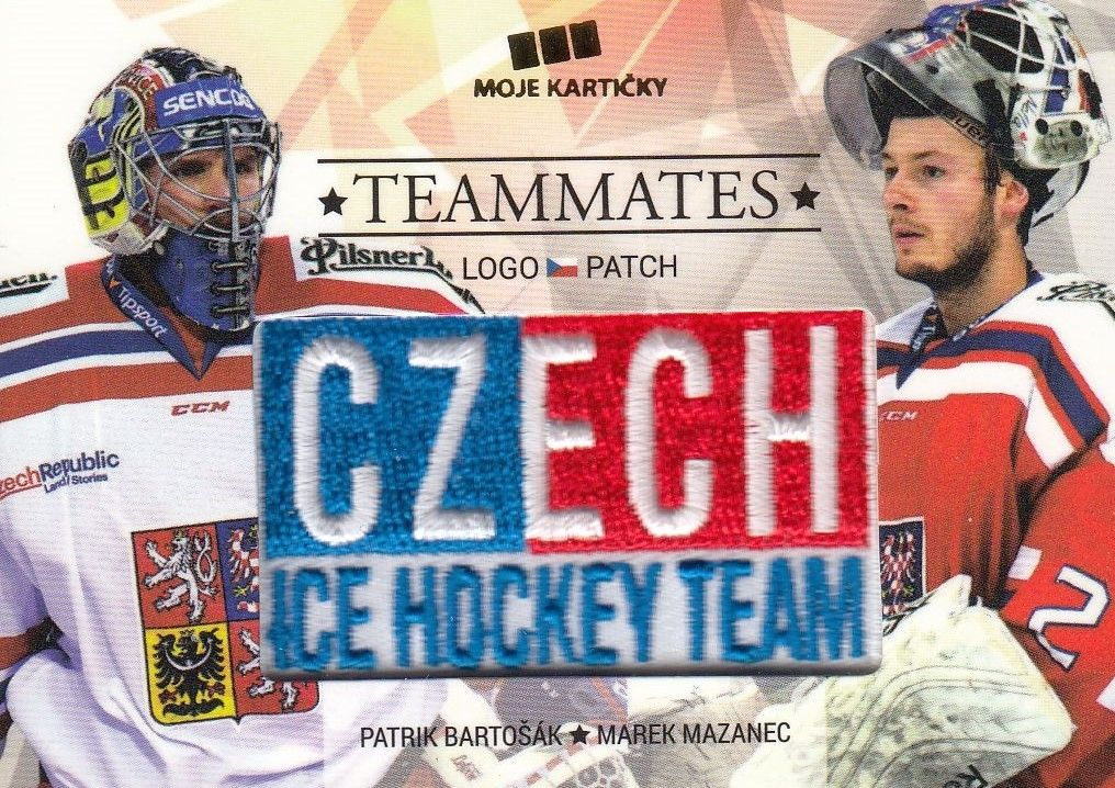 patch karta BARTOŠÁK/MAZANEC 17-18 Czech Ice Hockey Team Teammates /50