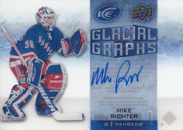 AUTO karta MIKE RICHTER 15-16 UD Ice Glacial Graphs číslo GG-MR