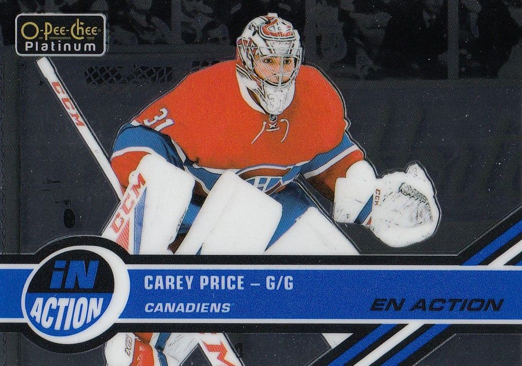insert karta CAREY PRICE 17-18 OPC Platinum In Action číslo IA-2