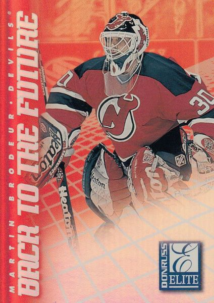 insert karta BRODEUR/LUONGO 97-98 Donruss Elite Back to the Future /1500