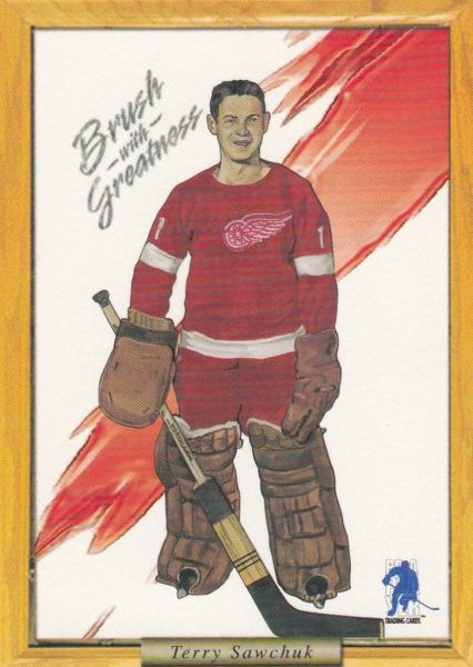 insert karta TERRY SAWCHUK 03-04 BAP Memorabilia Brush with Greatness číslo 19