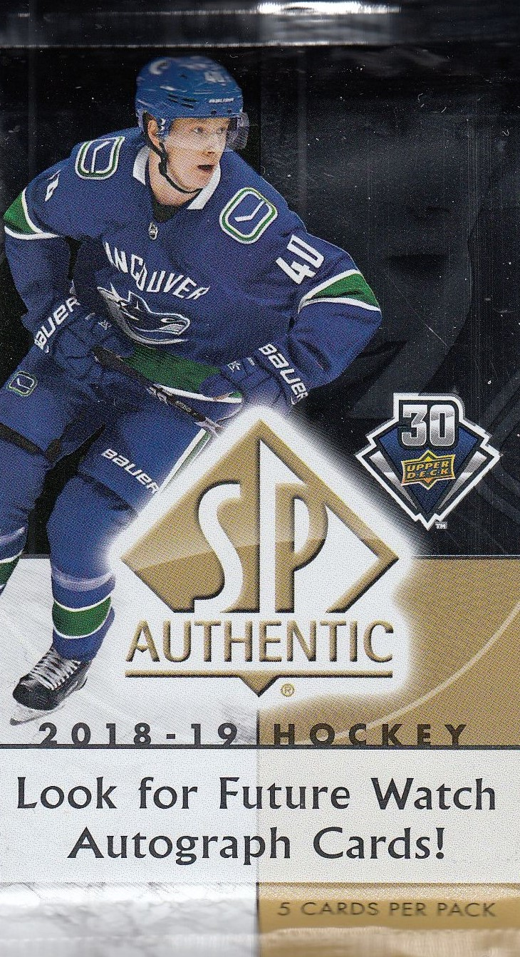 2018-19 UD SP Authentic Hockey Hobby Balíček