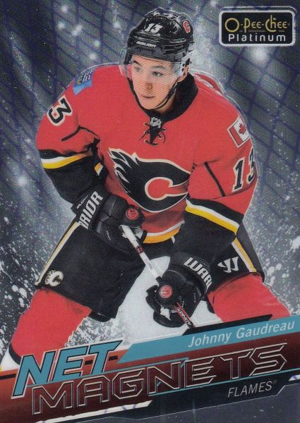 insert karta JOHNNY GAUDREAU 18-19 OPC Platinum Net Magnets číslo NM-7