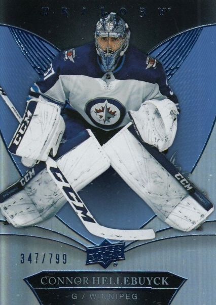 paralel karta CONNOR HELLEBUYCK 18-19 Trilogy Blue /799