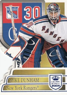 paralel karta MIKE DUNHAM 03-04 Crown Royale Blue /850