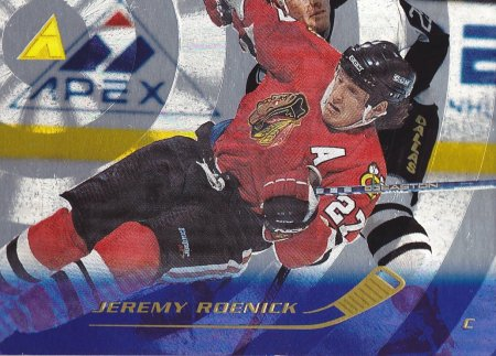 paralel karta JEREMY ROENICK 95-96 Pinnacle Rink Collection číslo 106