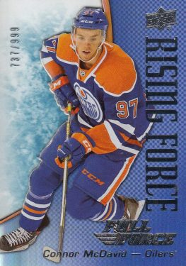 insert RC karta CONNOR McDAVID 15-16 Full Force Rising Force /999