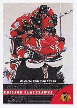 insert karta CHICAGO BLACKHAWKS 13-14 Score Season Highlights číslo 582