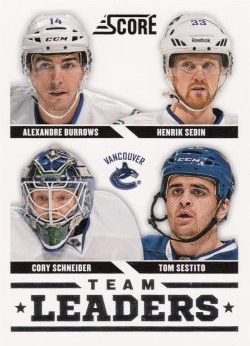 insert karta BURROWS/SEDIN/SCHNEIDER/SESTITO 13-14 Score Team Leaders