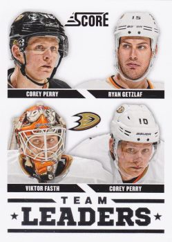 insert karta PERRY/GETZLAF/FASTH/PERRY 13-14 Score Team Leaders