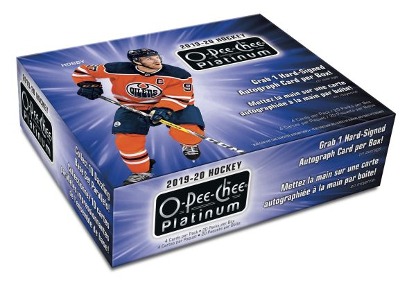 2019-20 UD O-Pee-Chee Platinum Hockey Hobby 8-Box CASE