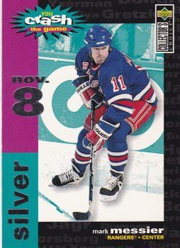 insert karta MARK MESSIER 95-96 Coll. Choice You Crash the Game Silver