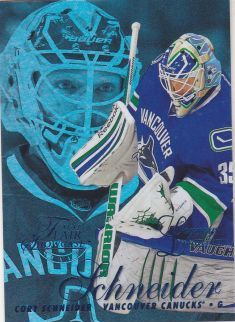 paralel karta CORY SCHNEIDER 12-13 Fleer Retro Flair Showcase Style Blue /150