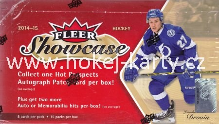 2014-15 UD Fleer Showcase Hockey Hobby Box