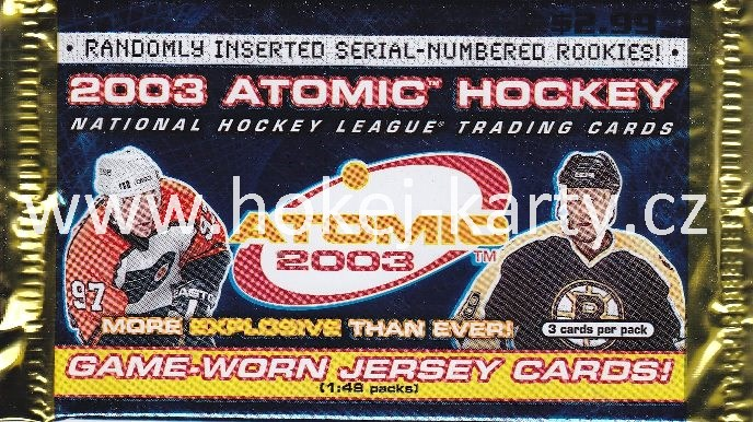 2002-03 Pacific Atomic Hockey US Retail Balíček