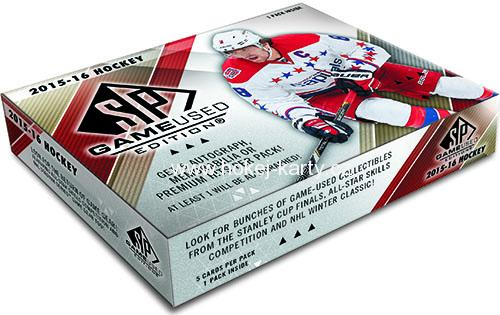 2015-16 UD SP GAME-USED Hockey Hobby Box