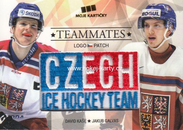 patch karta KAŠE/GALVAS 17-18 Czech Ice Hockey Team Teammates /50