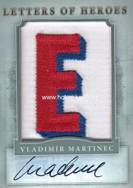 AUTO patch karta VLADIMÍR MARTINEC 11-12 Winners Take All Letters of Heroes 1/1