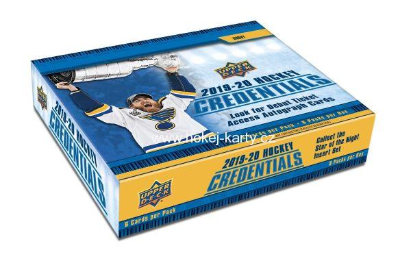 2019-20 UD Credentials Hockey Hobby Box