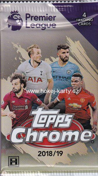 2018-19 Topps Chrome Premier League Soccer Hobby Balíček