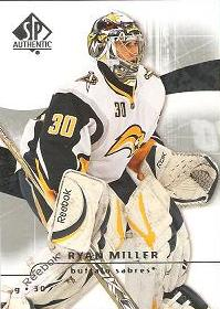 řadová karta RYAN MILLER 08-09 SP Authentic