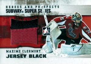Jersey Karty Nhl Jersey Karta Maxime Clermont 09 10 Heroes And