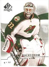řadová karta NIKLAS BACKSTROM 08-09 SP Authentic