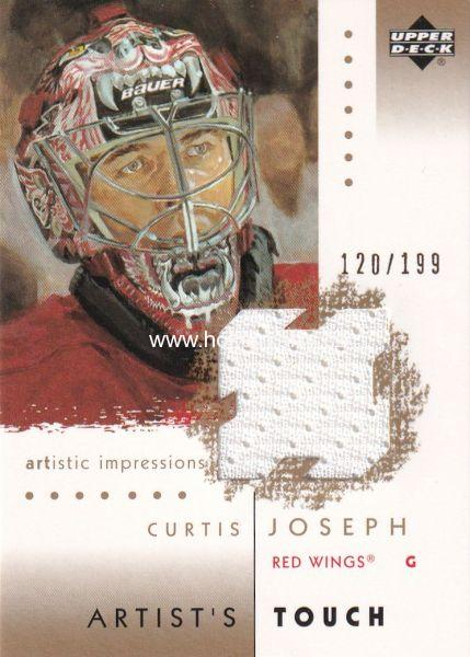 jersey karta CURTIS JOSEPH 02-03 Artistic Impressions Artist´s Touch Gold /199