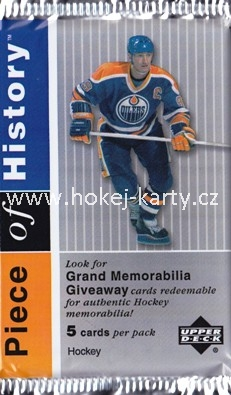 2002-03 UD Piece of History Hockey Retail Balíček