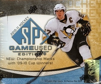 2010-11 UD SP Game-Used Hockey Hobby Box