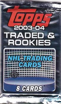 2003-04 Topps Traded and Rookies Hockey Balíček